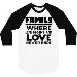 family quote 3 3/4 Sleeve Shirt | Artistshot