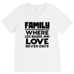 family quote 3 V-Neck Tee | Artistshot