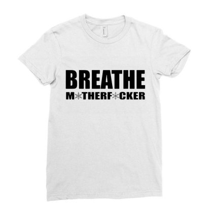 Breathe Ladies Fitted T-shirt Designed By Jacqueline Tees