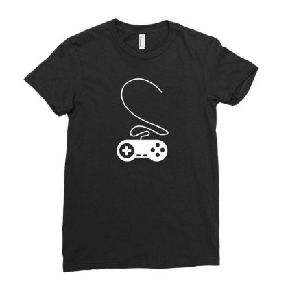 Controller Heart Ladies Fitted T-shirt Designed By Fahmifutri17