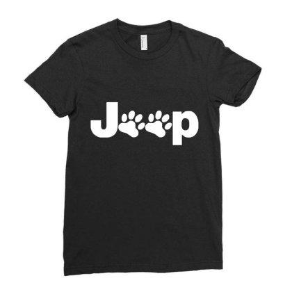 Parody Logo Jeep Paw Ladies Fitted T-shirt Designed By Zita Art
