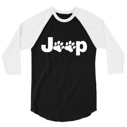 Parody Logo Jeep Paw 3/4 Sleeve Shirt Designed By Zita Art