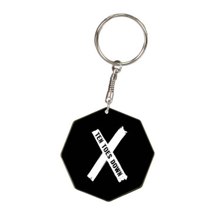 Deestroying Ten Toes Down Ttd Merch   For Dark Octagon Keychain Designed By Just4you