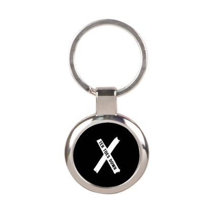 Deestroying Ten Toes Down Ttd Merch   For Dark Round Keychain Designed By Just4you