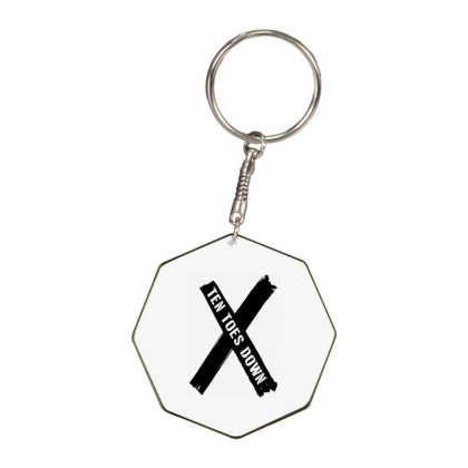 Deestroying Ten Toes Down Ttd Merch Octagon Keychain Designed By Just4you