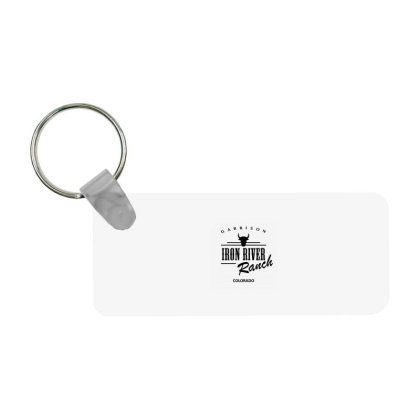 Iron River Ranch Frp Rectangle Keychain Designed By Planetshirts