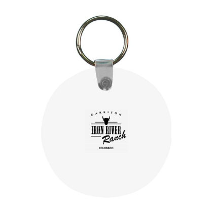 Iron River Ranch Frp Round Keychain Designed By Planetshirts