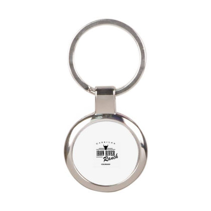 Iron River Ranch Round Keychain Designed By Planetshirts