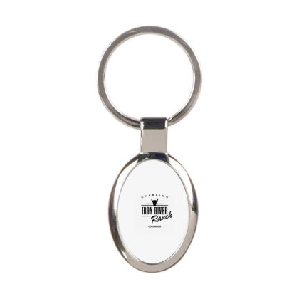 Iron River Ranch Oval Keychain Designed By Planetshirts