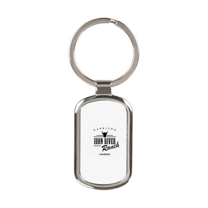 Iron River Ranch Rectangle Keychain Designed By Planetshirts