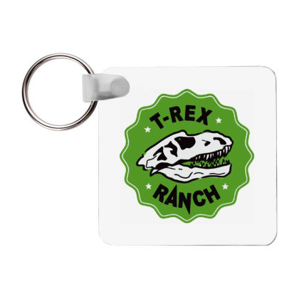 T Rex Ranch Frp Square Keychain Designed By Jablay