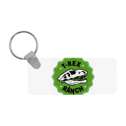 T Rex Ranch Frp Rectangle Keychain Designed By Jablay
