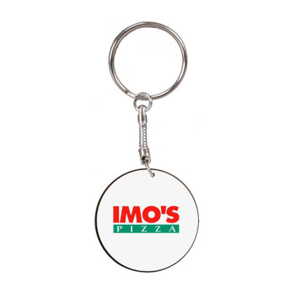 Imo's Pizza 2020 White Round Keychain Designed By Sephia