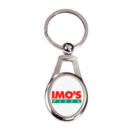 Imo's Pizza 2020 Silver Oval Keychain Designed By Sephia
