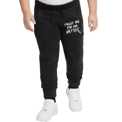 Trust Me I'm An Artist Youth Jogger Designed By Tonyhaddearts