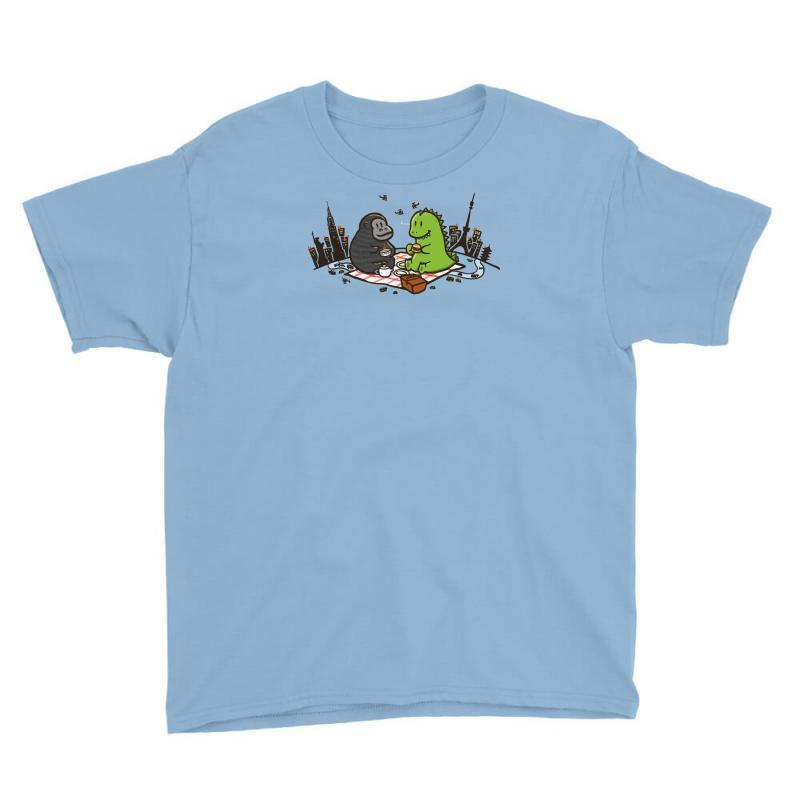Godzilla By Kingkong Picnic Youth Tee   Artistshot
