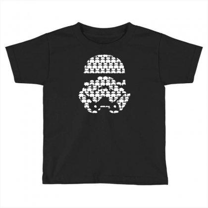 Stormtrooper Patern Tee Star Wars Tribute Direct To Garment Printed Toddler T-shirt Designed By Mdk Art