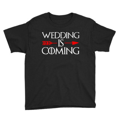 Wedding Is Coming Youth Tee Designed By Zita Art