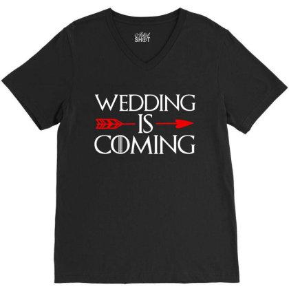 Wedding Is Coming V-neck Tee Designed By Zita Art