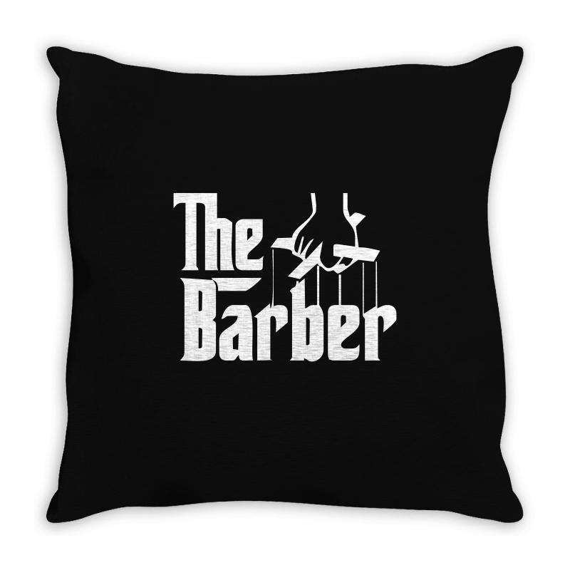 The Barber Throw Pillow | Artistshot
