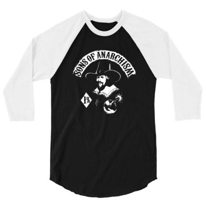 San Of Anarchism 3/4 Sleeve Shirt Designed By Btyres