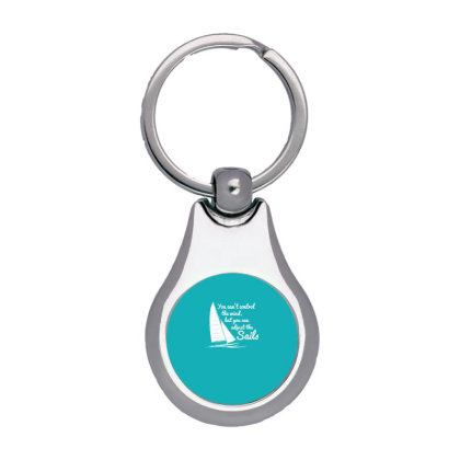 You Can't Control Wind But Adjust The Sails Silver Pear Keychain Designed By Gematees