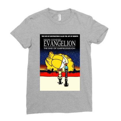 Neon Genesis Ladies Fitted T-shirt Designed By Cooldesignz