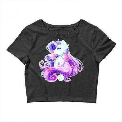 Shining Beautiful Unicorn Crop Top Designed By Mdk Art