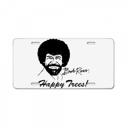 Bob Ross Happy Trees ! License Plate Designed By Mdk Art