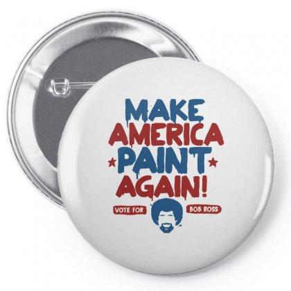 Painter Bob Ross Make America Paint Again Pin-back Button Designed By Mdk Art