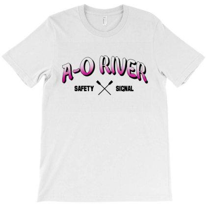 A O River Safety Signal T-shirt Designed By Unicorn Art