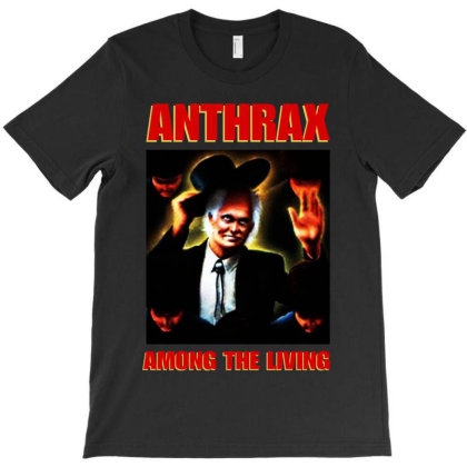 Among The Living Anthrax T-shirt Designed By Unicorn Art