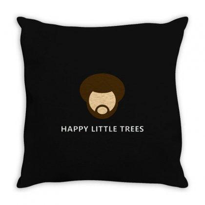 Bob Ross Throw Pillow Designed By Mdk Art