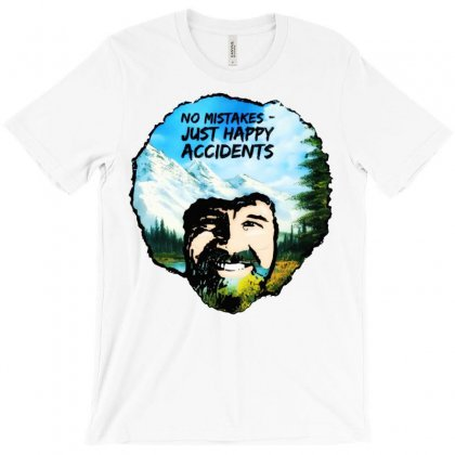 Bob Ross Happy Accidents T-shirt Designed By Mdk Art
