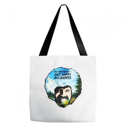 Bob Ross Happy Accidents Tote Bags Designed By Mdk Art