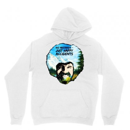 Bob Ross Happy Accidents Unisex Hoodie Designed By Mdk Art
