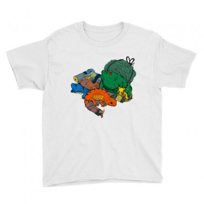 Backyard Pocket Monsters Youth Tee Designed By Iamar25