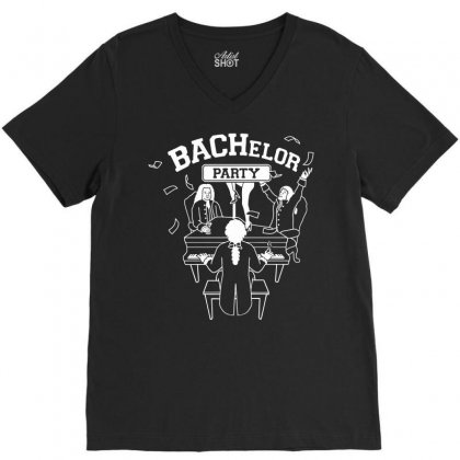 Bachelor Party V-neck Tee Designed By Iamar25