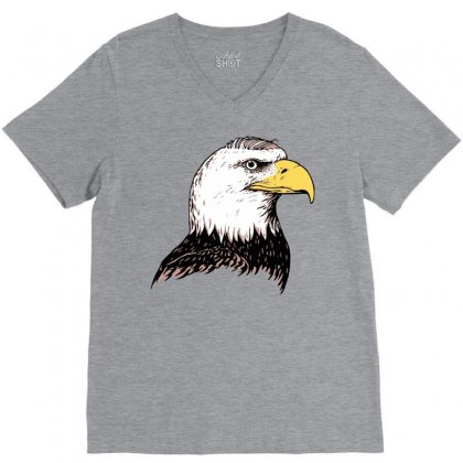 Bald Eagle V-neck Tee Designed By Iamar25