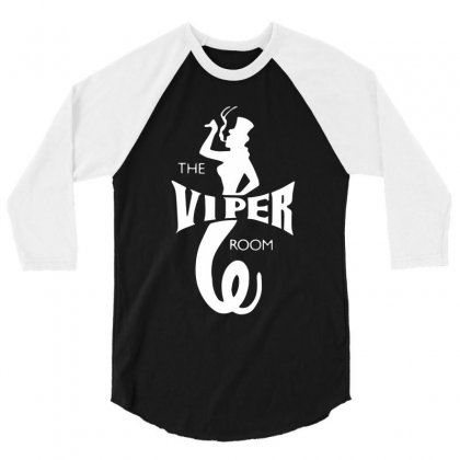 The Viper Room 3/4 Sleeve Shirt Designed By Mdk Art