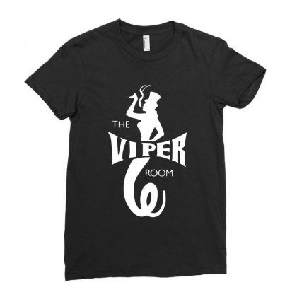 The Viper Room Ladies Fitted T-shirt Designed By Mdk Art