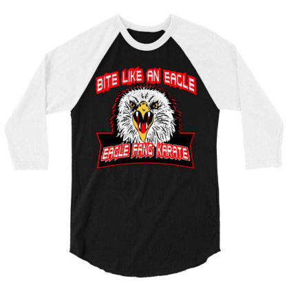 Bite Like An Eagle Fang Karate 3/4 Sleeve Shirt Designed By Uptosign