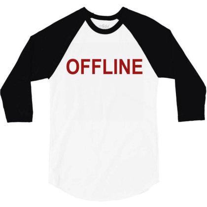 Offline 3/4 Sleeve Shirt Designed By Megaagustina