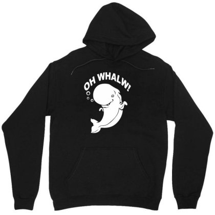 Oh Whales Unisex Hoodie Designed By Megaagustina