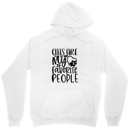Cats Are My Favorite People Unisex Hoodie Designed By Kahvel