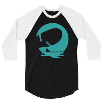 Wave 3/4 Sleeve Shirt Designed By Megaagustina