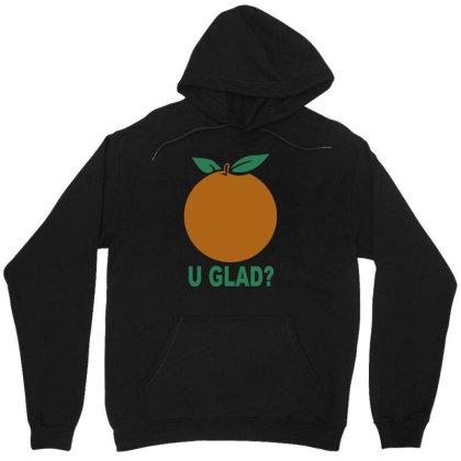 Orange Uglad Unisex Hoodie Designed By Megaagustina