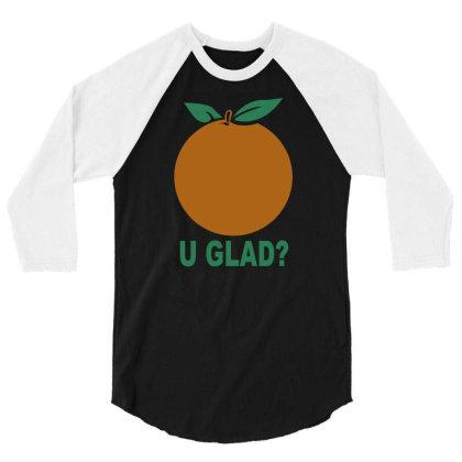 Orange Uglad 3/4 Sleeve Shirt Designed By Megaagustina