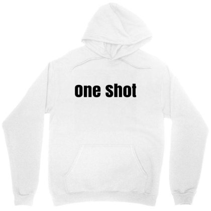 One  Shot Unisex Hoodie Designed By Megaagustina