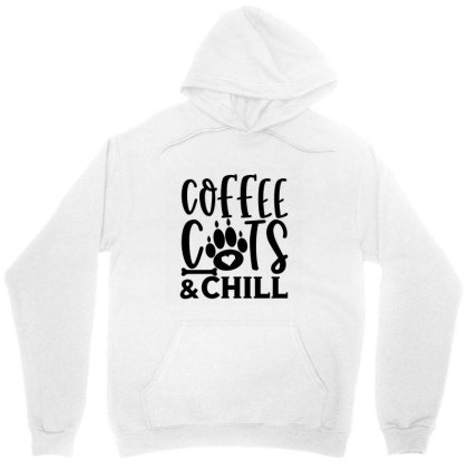 Coffee Cats And Chill 01 Unisex Hoodie Designed By Kahvel